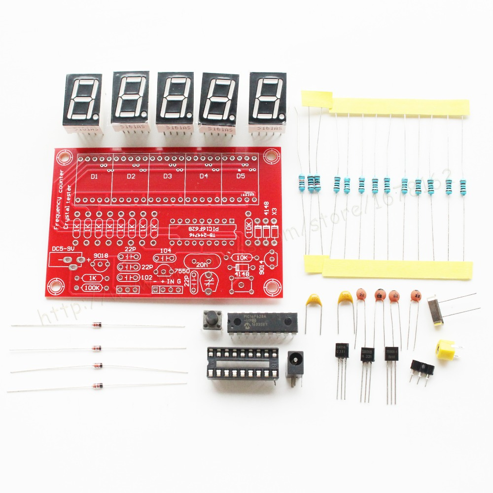 1set Diy Kits Rf 1hz 50mhz Crystal Oscillator Frequency Counter Diode Tester Circuit Using Ic 741 And Led Meter Digital 5 Bit Tube Display In Electronics Stocks From