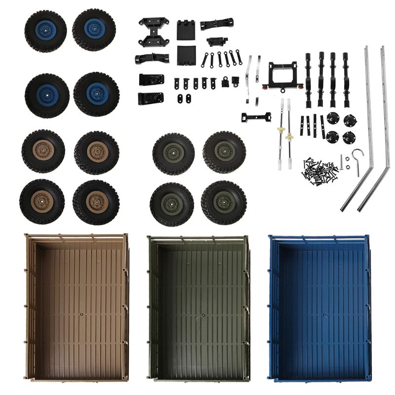Atualizar reboque diy conjunto de peças para wpl 1/16 caminhão militar rc carro diy acessórios