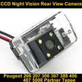 Câmera de visão traseira Reversa de BackUp Câmera de Estacionamento para Peugeot 206 207 306 307 308 406 407 5008 Partner Tepee