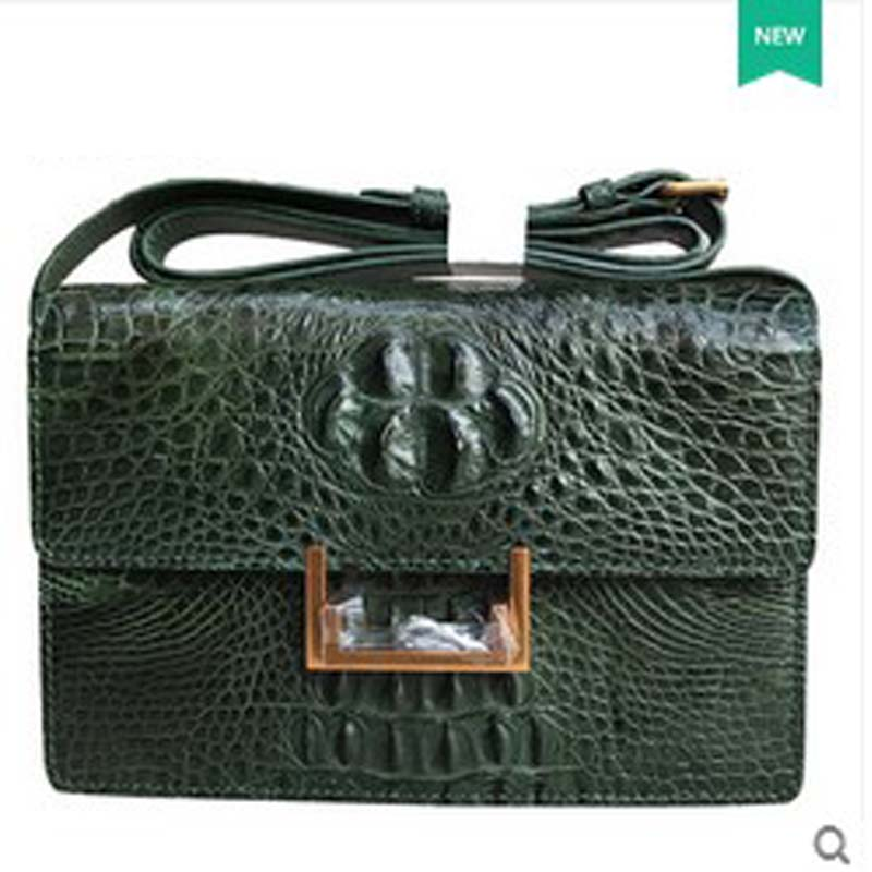 yongliang new fashion crocodile leather skin single shoulder women bag Messenger women bag yongliang 2017 new crocodile leather belly single shoulder men handbag crocodile leather crossbody fashion all match men bag