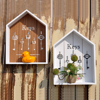 Europe Fashion Storage Boxes Wall Hanger Wood Storage Holder Flower Pots Key Holder Storage Box Wooden Sundries Hang Wood Boxes