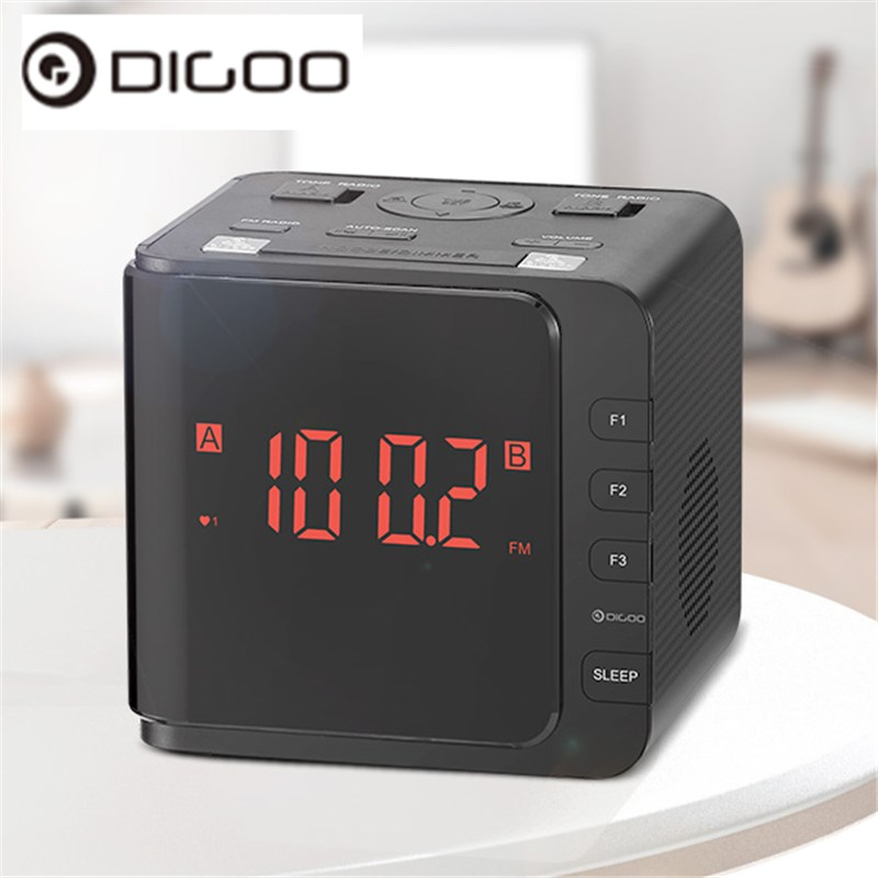 digoo dg cr7 led large display usb alarm clock radio digital am fm radio dual alarm with snooze. Black Bedroom Furniture Sets. Home Design Ideas