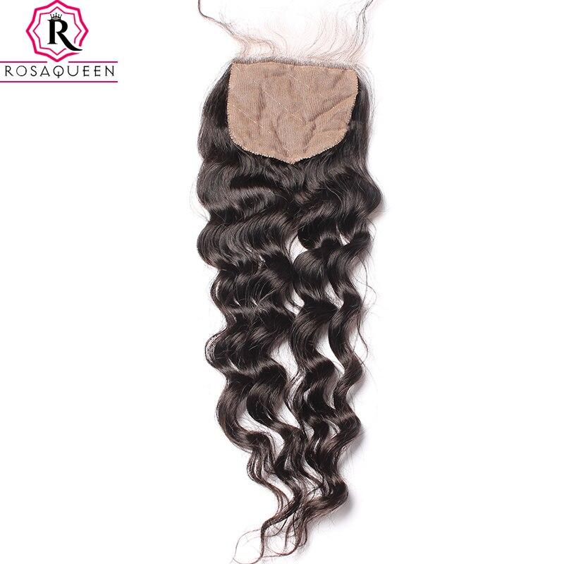 Silk Base Closure Brazilian Loose Wave 100% Human Hair With Baby Hair Hidden Knots Dolago Virgin Hair Closure