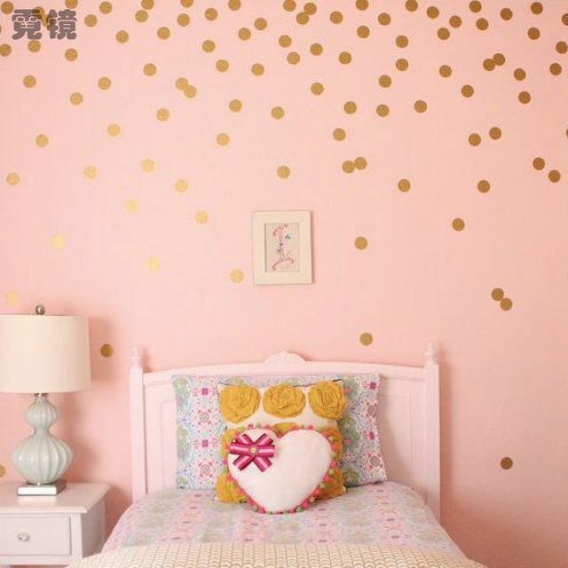 Modern Polka Dots Remove Wall Sticker Vinyl Wall Art DIY Cartoon ...