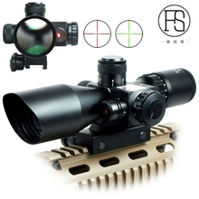 Hunting Rifle Scope 2.5-10x40 Red Green Illuminated Mil-dot Gun RifleScopes For Tactical Sight Military Rifle Sights 20mm/11mm tactical 4x32 rifle scope fiber optic illuminated scope for 20mm rail hunting shooting military red green dot reticle sight