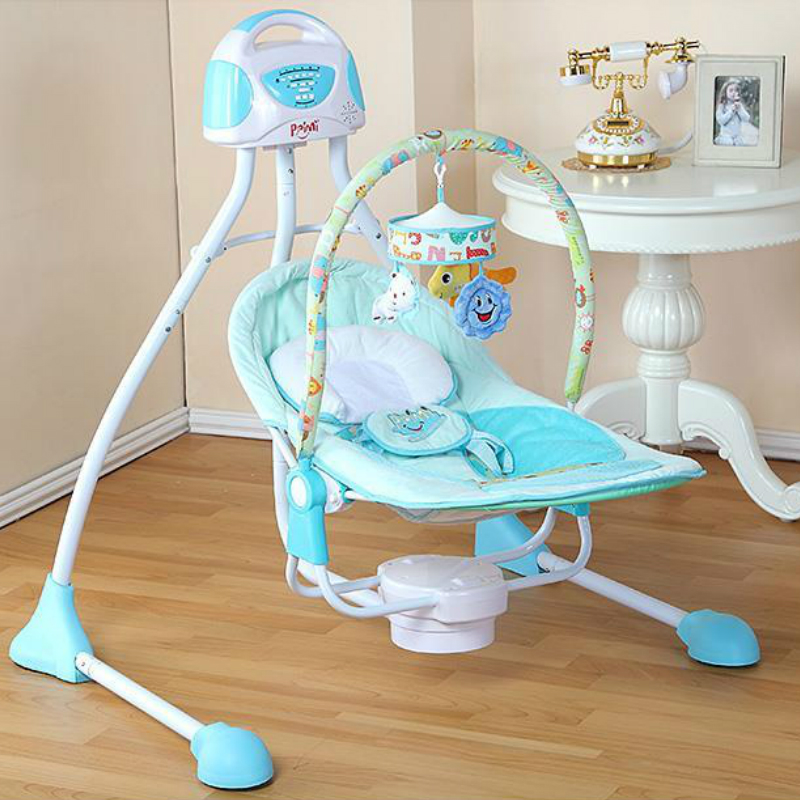 Baylor baby electric cradle bed music baby shaker multifunctional folding automatic baby swing sleeping chair-in BouncersJumpers u0026 Swings from Mother ... & Baylor baby electric cradle bed music baby shaker multifunctional ...