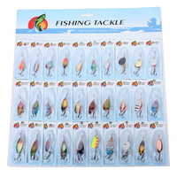 Wholesale 3X (30 X Metal Mixed Spinners Fishing Lure Pike Salmon Baits Bass Trout Fish Hooks
