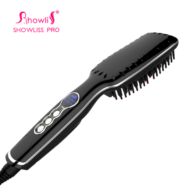 Showliss Lovely Gift Hair Straightener Brush For Christmas  Gift  Comb Straightening Irons Hair Brush Comb Hair Straightener