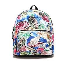 Women Fashion Vintage Floral Backpack Girls 10 Laptop School Notebook Bag Waterproof Travel Zipper Schoolbag
