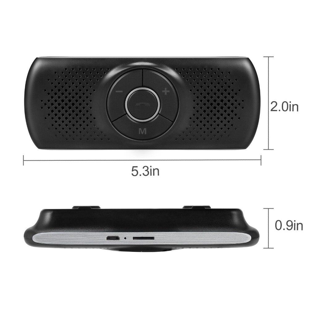 ANLUD Handsfree Bluetooth Car Kit Wireless Bluetooth Speaker Phone EDR MP3 Music Player Sun Visor Clip Speakerphone (8)