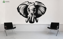 Elephant Wall Decal Animal Vinyl Wall Stickers For Kids Rooms Poster Nursery Africa Home Decor Art Mural Adhesive DIY DecalSY162 цена