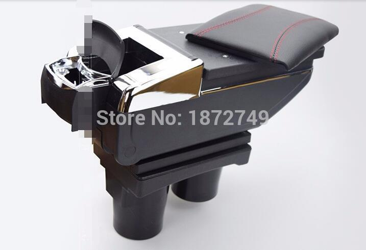 Store content Storage box with cup holder ashtray accessories 2012-2014 For  Peugeot 301 armrest central