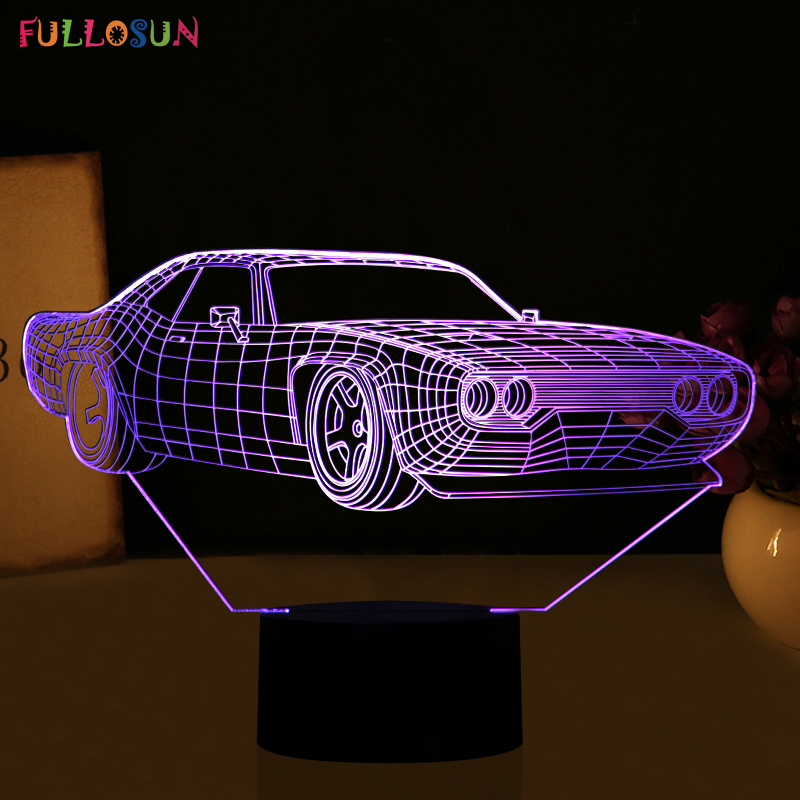 Novelty 3D Visual Car Shape Night Lamp LED Desk Table Lights with 5V USB Power Lamp as Home Bedroom Decorations novelty led night light wireless remote control dimmable night lamp rgb kids children desk table lights usb 5v