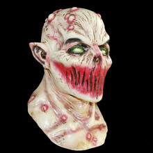 X-MERRY New mask 2016 scary carnival zombie latex mask for adult head ,bloody horror mask