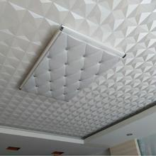 Ceiling Wall Paper 3D Stereo White Diamond PVC Embossed Wallpaper Waterproof Living Room Bedroom Ceiling Decorative Wallpaper(China)