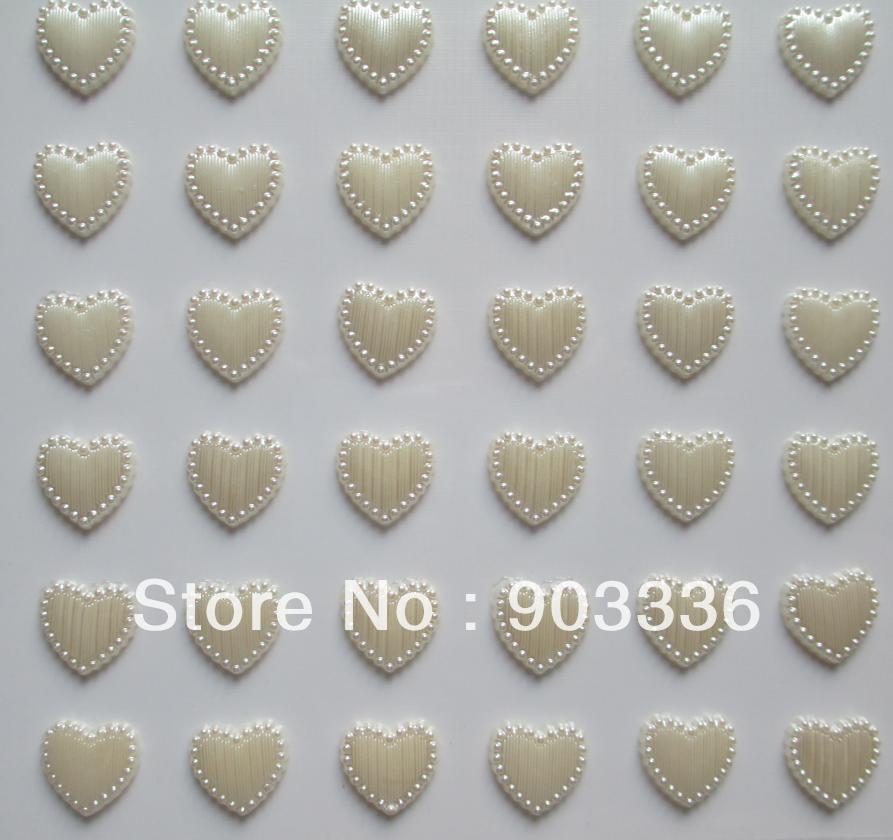 20 시트 14 미리 메터 36 개 / 시트 자체 접착 심장 진주 스티커 스크랩북 일기 모바일 웨딩 발렌타인 선물 카드 종이 diy