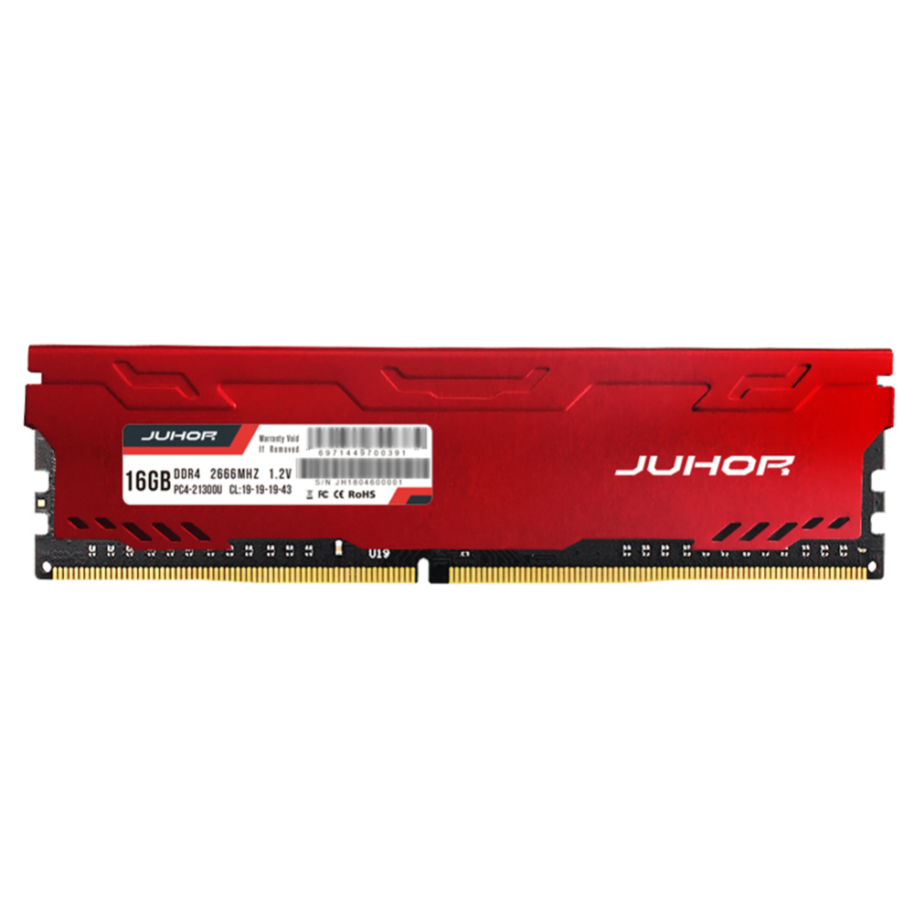 New DDR4 <font><b>16GB</b></font> <font><b>Desktop</b></font> Memory <font><b>RAM</b></font> 4GB 8GB 2666MHZ DDR4 2400mhz U-DIMM PC4-19200 288 pin non-ECC Memory <font><b>RAM</b></font> GB Memory Glowing image