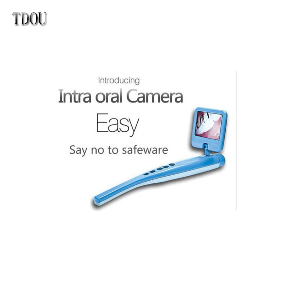 Dental Intra oral Camera 1/4 CMOS Built-in SD Card LCD Screen Video LED USB By TDOUBEAUTY Free Shipping usb 50x 1 4 cmos 4mp probe format dental camera with 4 led illumination