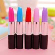 Cute Kawaii Ballpoint Pen Creative Lipstick Pen For School Office Supplies Korean Stationery Colored Ball Pens Free Shipping 407