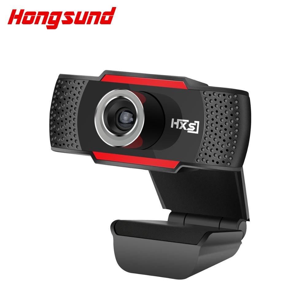 Hongsund USB Microphone Webcam HD 720 Mégapixels PC Caméra avec Absorption MIC pour Skype pour Android TV Rotatif Ordinateur Caméra