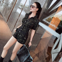 2020 new spring and summer Fashion casual sexy brand female women ladies girls Camouflage Jumpsuit Siamese shorts clothing