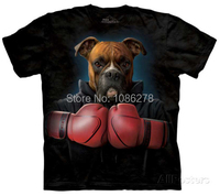 Crazy Hot Mens Custom T Shirts Boxer Dog Animal Funny T Shirts Print High Quality Cotton