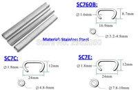 Rvs Pneumatische C ring nail Hog ring nail voor SC7E SC7C SC760B Air gun gratis shipp door DHL