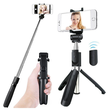 3 in 1 Handheld Tripod Bluetooth Controller Selfie Stick Extendable Monopod Selfie Stick Tripod for Apple Android