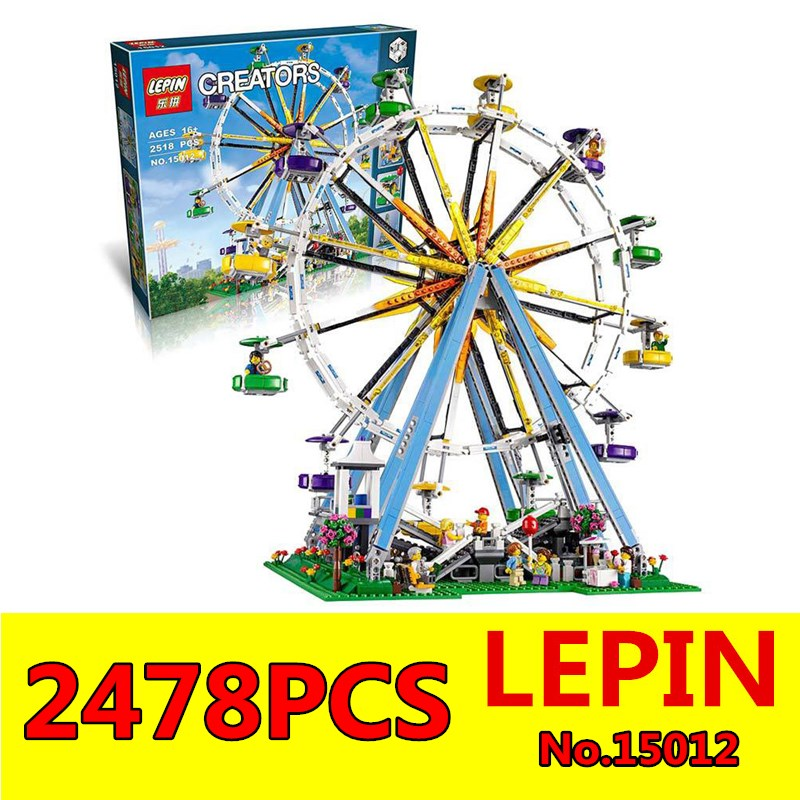 ФОТО Expert Ferris Wheel Model LEPIN 15012 City Creator Building Kits Assembling Block Bricks Compatible Toys for Children with 10247