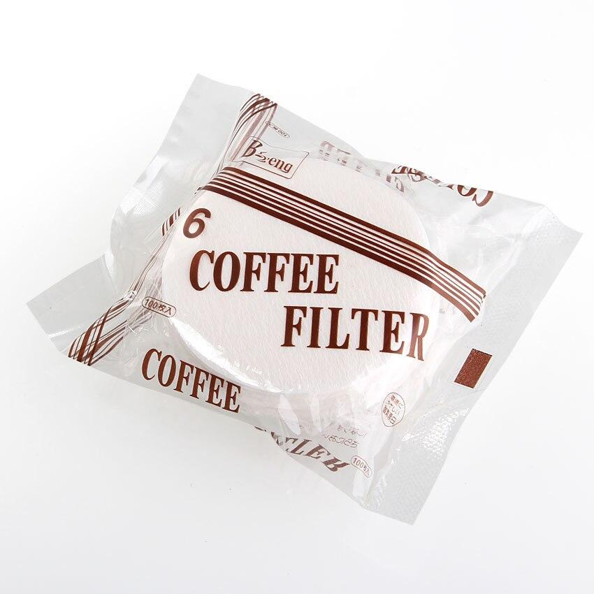 No. 6 Runde form 60 MM Kaffeefilterpapier, spezielle für Moka Topf Japanischen eis fällt, importierten papier kaffee filter, 100 teile//beutel