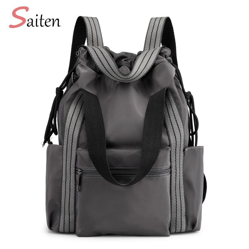 Women's Nylon Backpacks Multi-function Bags Fashion Shoulder Bags Drawstring Backpacks For Girls Multi-backpack Way Young Ladies