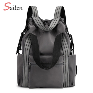 Image 1 - Womens Nylon Backpacks Multi function Bags Fashion Shoulder Bags Drawstring Backpacks For Girls Multi backpack Way Young Ladies
