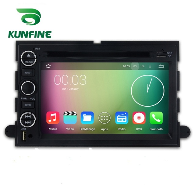 KUNFINE Android 7.1 Quad Core 2GB Car DVD GPS Navigation Player Car Stereo for Ford Expedition 2007-2010 Radio headunit