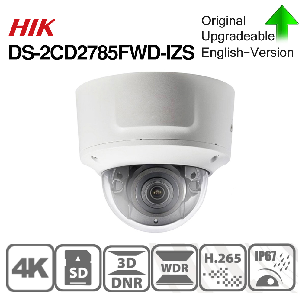 Image 3 - Hikvision Original DS 2CD2785FWD IZS Dome Camera 8MP POE CCTV Camera 50m IR Range IP67 IK10 H.265+ 2.8 12mm Zoom-in Surveillance Cameras from Security & Protection
