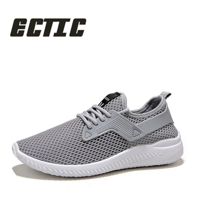 ECTIC Новинка 2018 года Дизайн свет кроссовки Обувь с дышащей сеткой кроссовки стрейч Fabrc модный бренд Для мужчин повседневная Туфли без каблуко... ...