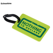 1pc New Suitcase Luggage Tags ID Address Holder Silicone Identifier Label
