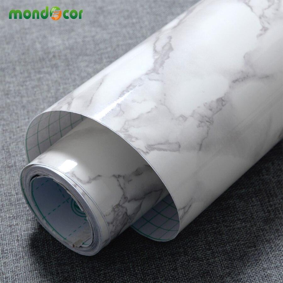 3 m/5 m/10 m Moderne Imperméable En Vinyle Auto-adhésif Papier Peint Marbre Contacter Papier Cuisine Armoire Étagère tiroir Liner Stickers Muraux