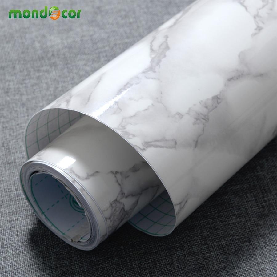 3M/5M/10M Modern Waterproof Vinyl Self adhesive Wallpaper Marble Contact Paper Kitchen Cupboard Shelf Drawer Liner Wall Stickers 5m 10m roll mosaic self adhesive wallpaper peel