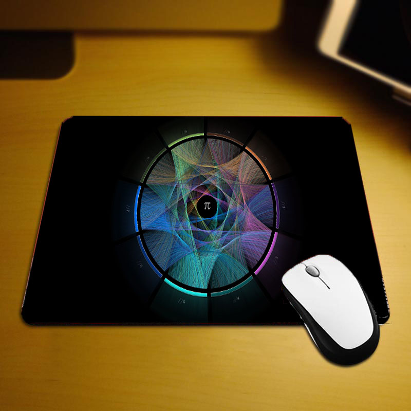 Mairuige Tabletop Pc Gaming mousepad Sci-fic Pattern Mathematical Formula Style Diy Design Pc Table Mats for Science Lovers