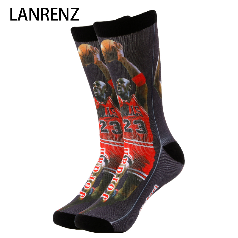 2020 All-Star Series Printing 31 Men And Women Fashion Funny Socks 3d Printed Socks 200 Knitting Oil Painting Compression Sock