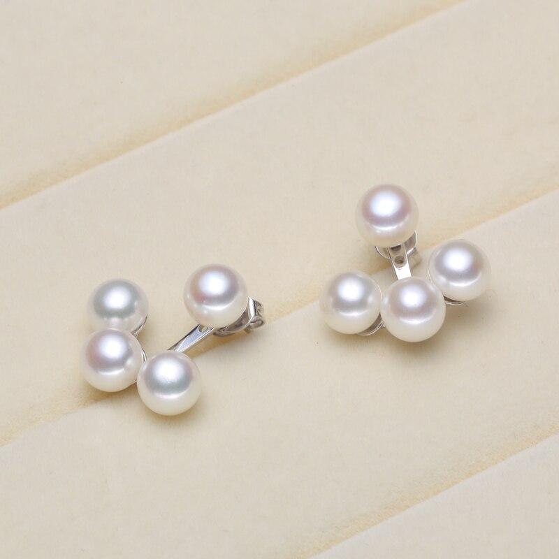 f5da21a91c5910 925 Plata real natural grande [2016] nuevos pendientes de perlas brillantes  pendientes perlas naturales de agua dulce cosido al vapor redondo a dos ~  Best ...