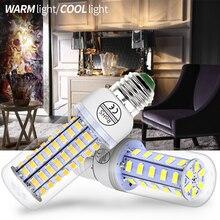 GU10 Светодиодный лампа «Кукуруза» E14 220V Bombilla светодиодный E27 кукурузная лампочка 5730 Светодиодные свечи smd светильник Светодиодная лампа для дома 24 36 48 56 69 72 светодиодный s 3W ампулы 5 Вт