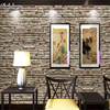 Retro 3D Simulation Simulation Brick Wallpaper PVC Waterproof Box Chinese Warm Restaurant Culture Stone Wallpaper