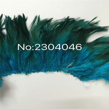 5-6 inches high (12-14CM) feather dyed blue lake decorative craft, 800-900 Root
