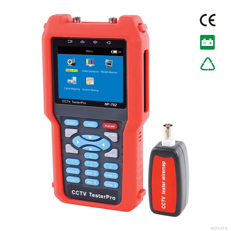CCTV Tester NF-702 Video Level testing, Audio input and PTZ continuing rotate test multimeter Check open,short,cross reverse