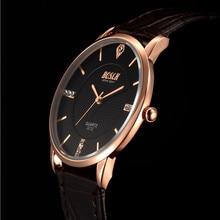 BOSCK3312 luxury brand men's watches waterproof leather clock male see men leisure watches relogio quartz movement