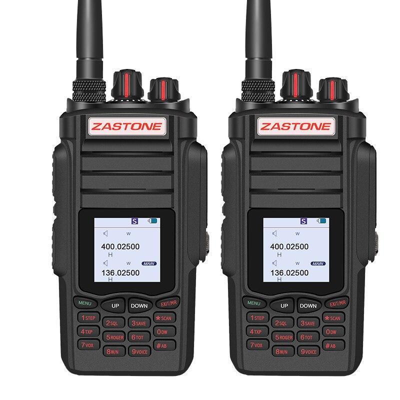 2pcs Zastone A19 10W Walkie Talkie Dual Band Radio UHF 400-480MHz/ VHF 136-174MHz 2800mAh Walkie-talkie 10km Handy Amateur Radio