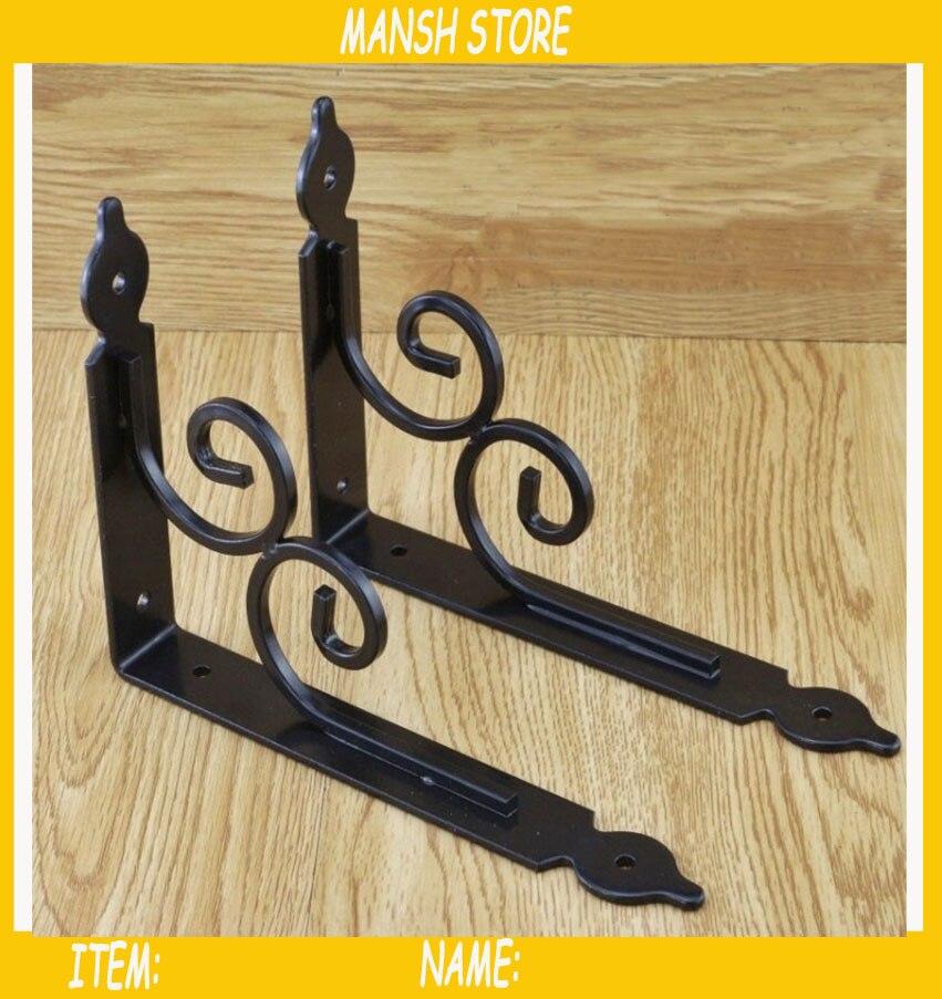 Staffe Per Mensole In Ferro.2 Pz Lotto 11 14 Cm Staffe Di Mensola Di Vetro Europ Stile Muro Di