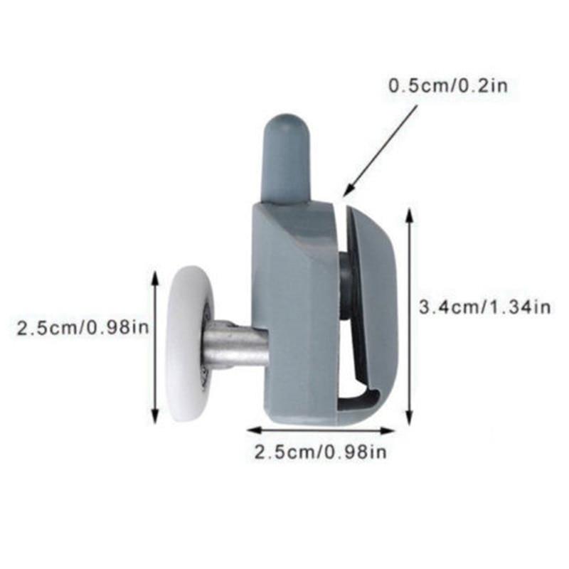 8 Pcs Shower Door Roller Door Castors Φ25mm Roller Guide For Shower Cabins-0