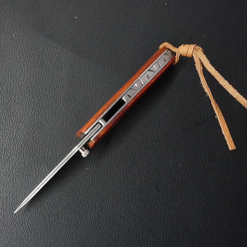 EDC ดามัสกัสมีดพับใบมีด Camping ตั้งแคมป์ล่าสัตว์กลางแจ้งมีด